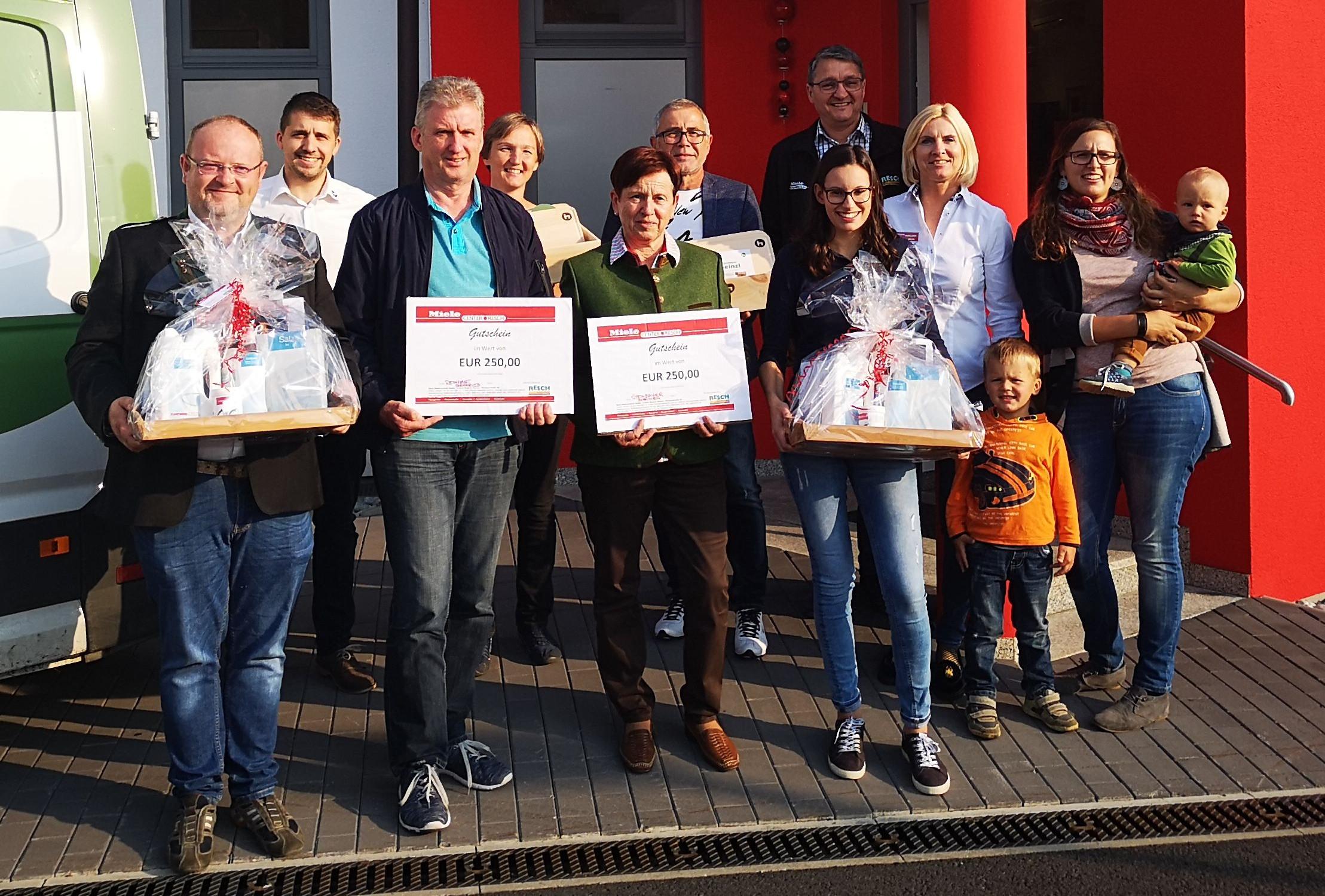 Gewinner Gewinnspiel Hausmesse 2018 im Miele Center Resch