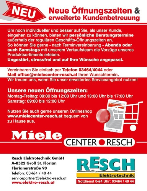 Miele Center Resch Infos